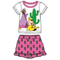 Shortama Bumba roze/wit cactus