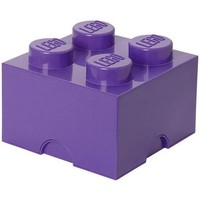 Opbergbox Lego Friends brick 4 paars