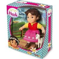 Heidi Pop met geit 17 cm