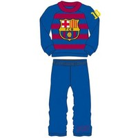 Pyjama barcelona blauw/rood gestreept