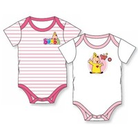 Rompertjes Bumba 2-pack roze/wit
