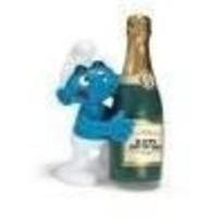 Schleich Smurf met fles champagne 20708