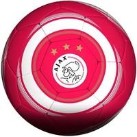 Bal ajax leer groot rood/wit cirkel