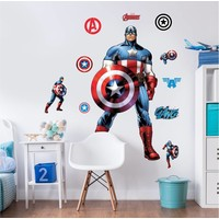 Captain America Muursticker 122 cm
