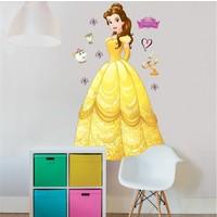Belle en het beest Muursticker 122 cm