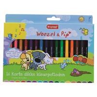 Kleurpotloden Bruynzeel Woezel en Pip: 16 stuks