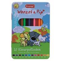 Kleurpotloden Bruynzeel Woezel en Pip: 12 stuks