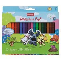 Viltstiften Bruynzeel Woezel en Pip: 20 stuks