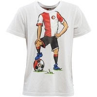 T-shirt feyenoord wit playerbody