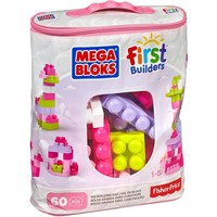Grote Bouwtas Roze Mega Bloks FB: 60 stuks