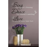 Muursticker RoomMates: Sing Dance Love