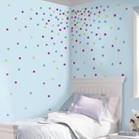 Muursticker RoomMates: Confetti Dots Glitter