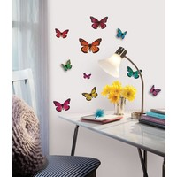 Muursticker RoomMates: Butterflies 3d