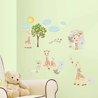Muursticker RoomMates: Vulli Sophie La Girafe