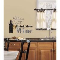 Muursticker RoomMates: Keep Calm en Drink More