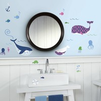 Muursticker RoomMates: Sea Whales