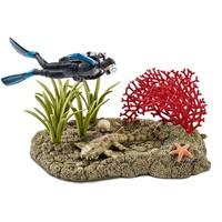 Duiker in koraalrif Schleich