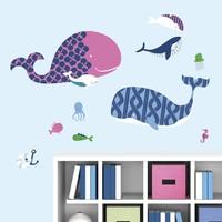 Muursticker RoomMates: Sea Whale