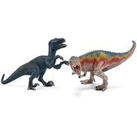 T-Rex en velociraptor klein Schleich