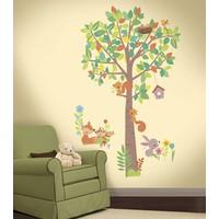Muursticker RoomMates: Woodland Creatures Tree