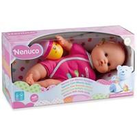 Pop Nenuco soft met fles-rammelaar: roze