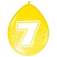 Ballonnen ster 30 cm: 7 jaar - 8 stuks