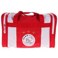 Sporttas ajax rood/wit logo: 50x28x30 cm