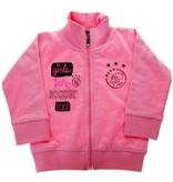 AJAX Amsterdam Baby sweatvest ajax roze: girls love soccer maat 62/68