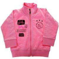 Baby sweatvest ajax roze: girls love soccer