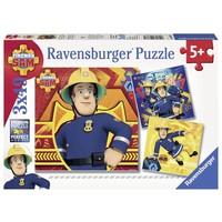 Puzzel Brandweerman Sam: 3x49 stukjes