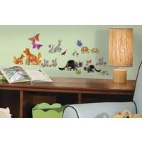 Muursticker Roommates: Woodland Friends 45x25 cm
