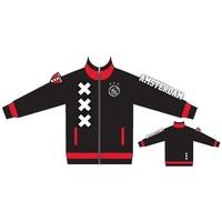 Track jacket ajax zwart/rood Amsterdam