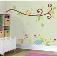 Muursticker Roommates: Happi-Scroll Branch 45x25 cm