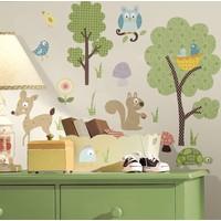 Muursticker Roommates: Woodland Animals 25x45 cm