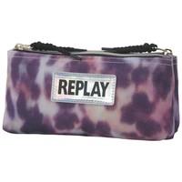 Etui Replay Girl leopard pink 10x21x6 cm