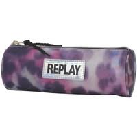Etui Replay Girl leopard pink 8x23x8 cm