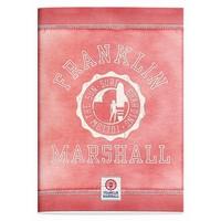 Schrift Franklin Marshall pink A4 gelijnd