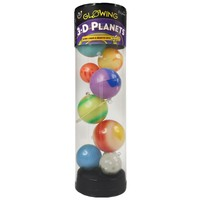 Glow in the Dark sterren: 3D Planets Tube