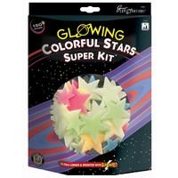 Glow in the Dark sterren: Colorful Stars Super Kit