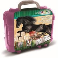 Schrijfset koffer paarden: 81-delig