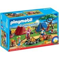 Tentenkamp met kampvuur Playmobil