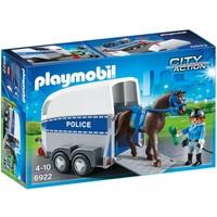Bereden politie met trailer Playmobil