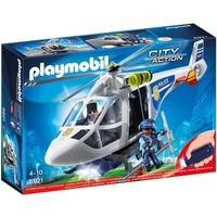 Politiehelikopter met LED-zoeklicht Playmobil