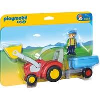 Boer met tractor en aanhangwagen Playmobil