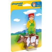 Boer met koe Playmobil