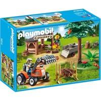 Houthakker met tractor Playmobil