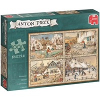 Puzzel Anton Pieck: 4 Seizoenen 1000 stukjes