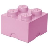 Opbergbox Lego DESIGN: brick 4 licht roze PINK