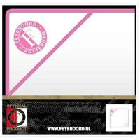 Baby handdoek feyenoord hooded wit/roze: 75x75 cm