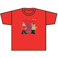 T-shirt Buurman en Buurman rood
